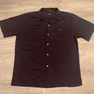 Oakley button shirt blue